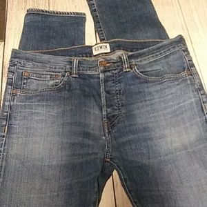 Edwin blue jeans.